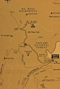 Map to Mt. Rose