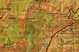 Topo Map to Relay Peak
