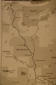 Sugar Bowl to Squaw map